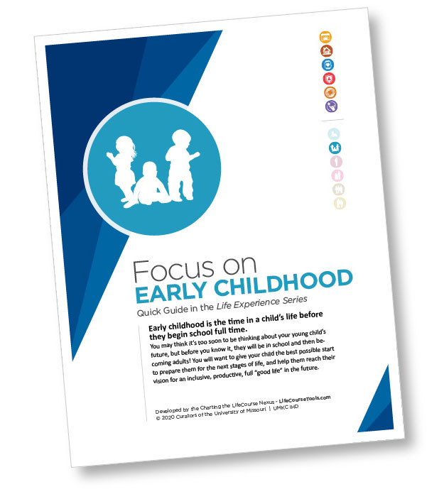 Cover of Charting the LifeCourse's Focus on Early Childhood guide