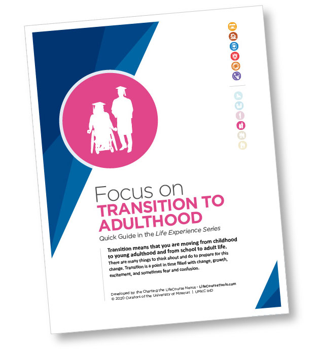 Cover of Charting the LifeCourse's Focus on Transition to Adulthood guide